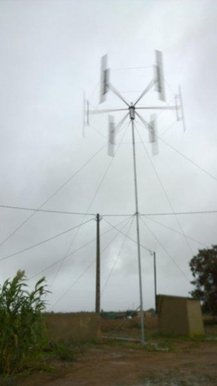 El mini-eólico de Baiwind en la cooperativa Cambrils