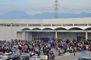Vista de los festejos en la Cooperativa desde la carretera