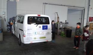 Vehículo eléctrico de la Cooperativa de Cambrils, co-financiado por el Proyecto LIFE Coop2020