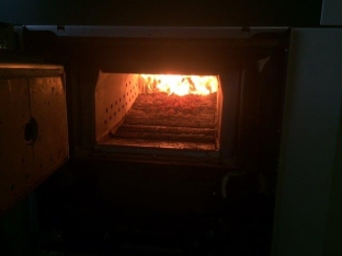 Puesta en marcha la caldera de biomasa