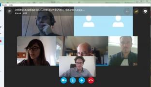 Productiva reunión de los socios a través de Skype